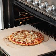 Fibrament Home Oven Baking Stone with Sausage Pizza
